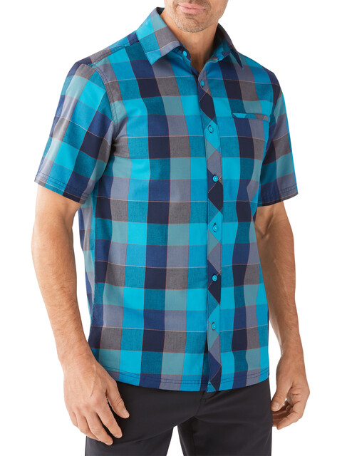 Smartwool M's Everyday Exploration Retro Plaid SS Shirt Sea Blue